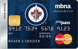 Winnipeg Jets Rewards Platinum Plus MasterCard issued by MBNA