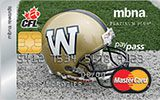 Learn more about Winnipeg Blue Bombers Rewards Platinum Plus MasterCard issued by MBNA