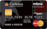 Carleton University Rewards Platinum Plus MasterCard issued by MBNA