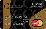 Conestoga College Rewards Platinum Plus MasterCard issued by MBNA