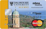 Dalhousie University Rewards Platinum Plus MasterCard issued by MBNA