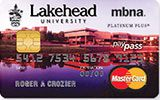 Learn more about Lakehead University Rewards Platinum Plus MasterCard issued by MBNA