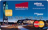 Memorial University of Newfoundland Rewards Platinum Plus MasterCard issued by MBNA