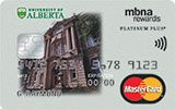 University of Alberta Rewards Platinum Plus MasterCard issued by MBNA