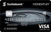 Learn more about Scotia Momentum VISA Infinite card issued by Scotiabank