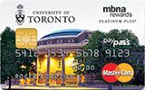 Learn more about University of Toronto Rewards Platinum Plus MasterCard issued by MBNA