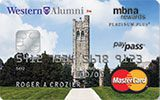 Western University Rewards Platinum Plus MasterCard issued by MBNA
