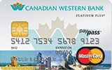 Learn more about Canadian Western Bank Platinum Plus MasterCard issued by MBNA