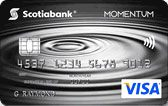 Learn more about Scotia Momentum cash back VISA card issued by Scotiabank