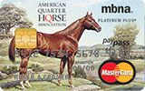Learn more about American Quarter Horse Association Platinum Plus MasterCard issued by MBNA