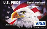 U.S. Pride BankAmericard Cash Rewards Visa Card issued by Bank of America