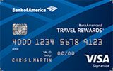 BankAmericard Travel Rewards issued by Bank of America