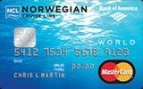 Norwegian Cruise Line World MasterCard Credit Card issued by Bank of America