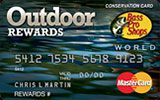Bass Pro Shops Outdoor Rewards MasterCard Credit Card issued by Bank of America