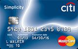Citi Simplicity Card issued by Citi Bank