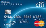 Citi ThankYou Preferred Card issued by Citi Bank