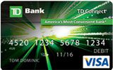TD Connect Reloadable Prepaid Visa Card issued by TD Bank