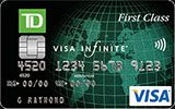 TD First Class Travel Visa Infinite Card issued by TD Canada Trust