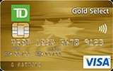 TD Gold Select Visa Card issued by TD Canada Trust