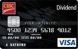 CIBC Dividend Visa Infinite Card issued by CIBC