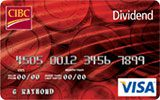 CIBC Dividend Card issued by CIBC
