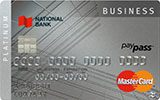 Learn more about Platinum MasterCard Business card issued by National Bank of Canada